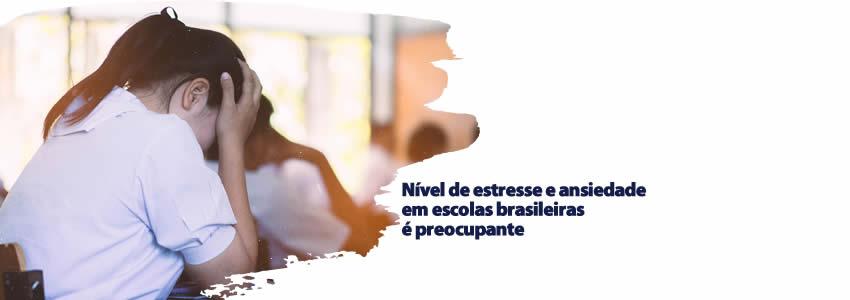 foto da notícia Nível de estresse e ansiedade em escolas brasileiras é preocupante